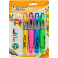 Image For Bic Brite Liner Grip Highlighter 4 Pack