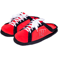 Image For Forever Collectibles Wisconsin Badger Slide Slippers (Red)