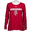 Cover Image for Under Armour Women's Wisconsin Long Sleeve T-Shirt (Black)