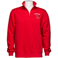 Image For Top Promotion Wisconsin Alumni ¼ Zip Sweatshirt (Red)