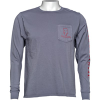Image For Blue 84 Bucky Badger Long Sleeve T-Shirt (Gray)