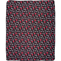 Image For Boxercraft Wisconsin Badger Flannel Blanket (Black) *