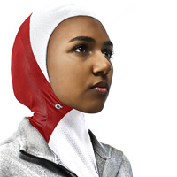 Image For Asiya Sport Hijab (Red/White)