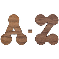 Image For Craftique Mfg. Bubble Wooden Letters (¾ Inch)