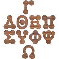 Image For Craftique Mfg. Bubble Wooden Greek Letters (¾ Inch)