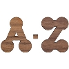 Image for Craftique Mfg. Bubble Wooden Letters (1.5 Inch)