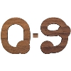 Image for Craftique Mfg. Bubble Wooden Numbers (1.5 Inch)
