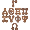 Image for Craftique Mfg. Bubble Wooden Greek Letters (1.5 Inch)