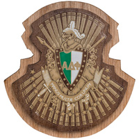 Image For Craftique Mfg. Double Wooden Crest (Alpha Delta Phi)