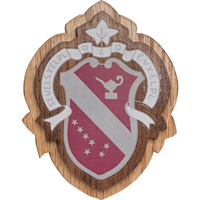 Image For Craftique Mfg. Double Wooden Crest (Alpha Phi)