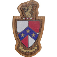 Cover Image For Craftique Mfg. Double Wooden Crest (Beta Theta Pi)
