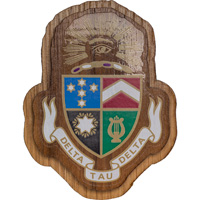Image For Craftique Mfg. Double Wooden Crest (Delta Tau Delta)