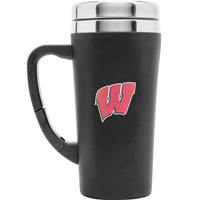 Image For Fanatic Group Wisconsin Travel Mug (Black)