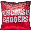 Cover Image for Forever Collectibles Wisconsin Sequin Pillow (Red/Silver)