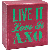 Cover Image For Alexandra and Company Alpha Chi Omega Wooden Plaque