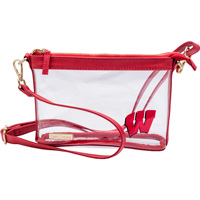 Cover Image For Capri Designs Wisconsin Cross Body Clear Bag (Red)