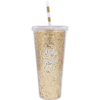 Cover Image For Alexandra and Company Alpha Epsilon Phi Glitter Tumbler
