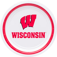 Image For Mayflower Wisconsin Badger 7 Inch Paper Plates