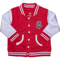 Image For Creative Knitwear Infant/Toddler Bucky Badger Jacket (Red)