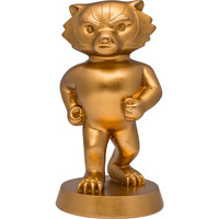 Cover Image For Bucky on Parade Gold Bucky Figurine