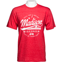 Image For Blue 84 Madison Wisconsin T-Shirt (Red) *