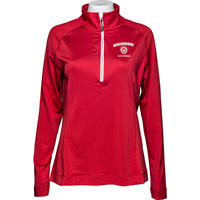 Cover Image For Cutter & Buck Women's Wisconsin Alumni ¼ Zip (Red)