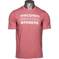 Image For Under Armour Wisconsin Badger Bar Threadborne (Red) 3X*