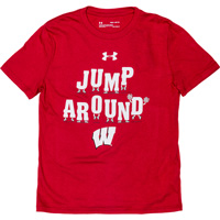 Cover Image For Under Armour Youth Jump Around T-Shirt (Red)