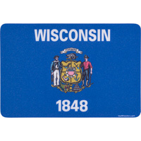 Image For Blue 84 Wisconsin State Flag Decal Sticker