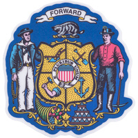 Image For Blue 84 Wisconsin Forward Decal Sticker