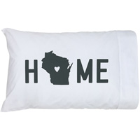 Image For About Face Designs, Inc. Wisconsin Home Pillow Case *