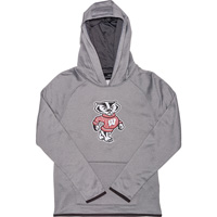 Image For Under Armour Youth Bucky Badger Hooded Sweatshirt (Gray)