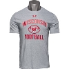 Image for Under Armour Wisconsin Football T-Shirt (Gray) 3X