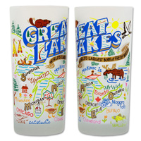 Image For Catstudio 15oz Great Lakes Drinking Glass