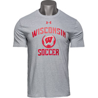 Image For Under Armour Wisconsin Soccer T-Shirt (Gray)