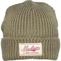 Image For Brew City Madison, WI Knit Hat (Olive Green)