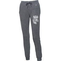 Cover Image For Champion Women's Bucky Badger Jogger Sweatpants (Gray)*