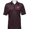 Image for Antigua Wisconsin Quest Polo (Black/Red)