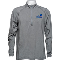 Image For Travis Mathew AmFam ¼ Zip Long Sleeve (Gray) *