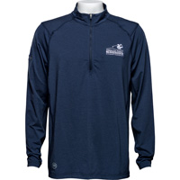 Image For Travis Mathew AmFam ¼ Zip Long Sleeve (Navy Blue) *