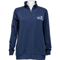 Image For Travis Mathew Women's AmFam ¼ Zip Long Sleeve (Navy Blue) *