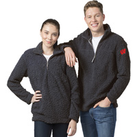 Cover Image For Boxercraft WI ¼ Zip Sherpa Sweatshirt (Charcoal)