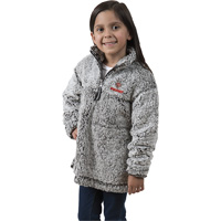 Image For Boxercraft Youth Wisconsin ¼ Zip Sherpa Sweatshirt (Gray)