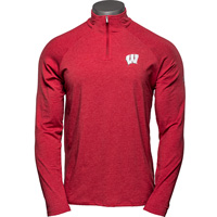 Cover Image For Under Armour Wisconsin ¼ Zip Long Sleeve (Red)