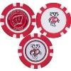 Image for Team Golf Bucky Badger Poker Chip Ball Markers