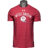 Image for Under Armour Wisconsin Football Tri-Blend T-Shirt (Red) *