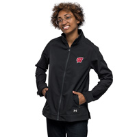Cover Image For Under Armour Women's WI Softshell Jacket (Black)