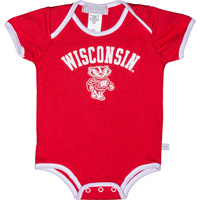 Image For Third Street Infant Wisconsin Onesie (Red)