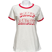 Image For Champion Women's Camp Randall T-Shirt (Cream/Red) *