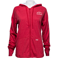 Image For Under Armour Women's Full Zip Wisconsin Hoodie (Red) *